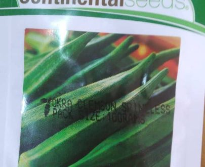 Clemenson Spineless Okra (Continental Seeds)