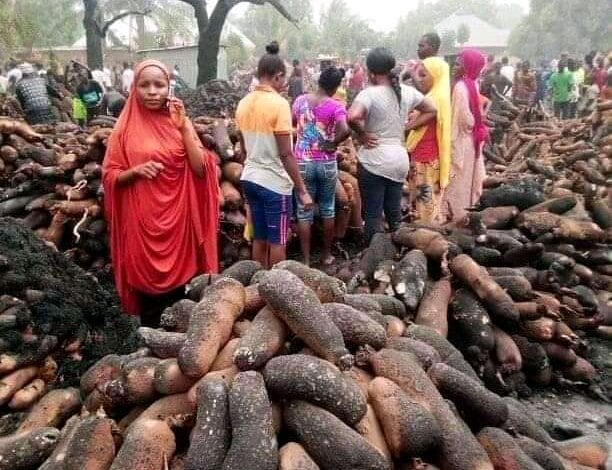 FIRE DESTROYS YAM BARNS IN PLATEAU STATE