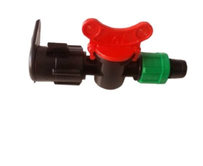 Layflat connector with valve
